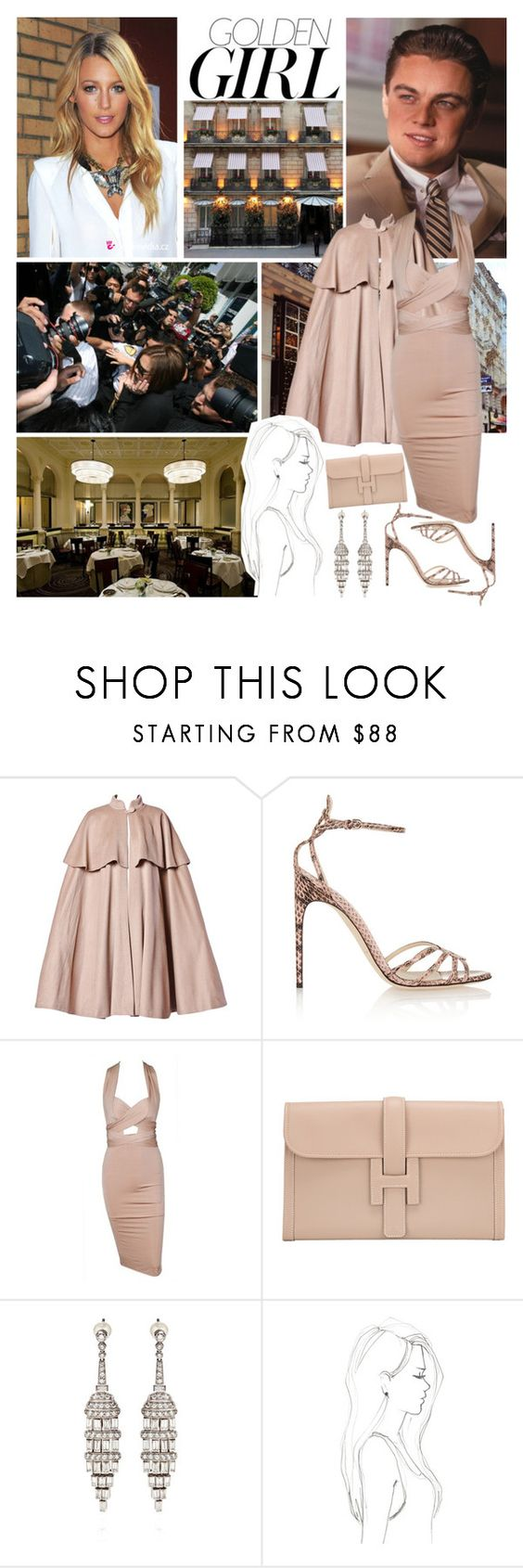"""""""Paparazzi Spotting Eleanor and Leo Having a Date Night At A London Restaurant"""" by eleanorofwales ❤ liked on Polyvore featuring Murphy, Moschino, Brian Atwood, Hermès and Monique Péan"""