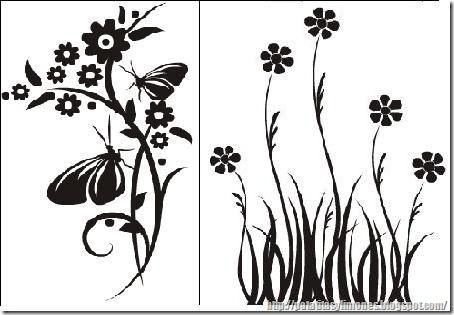 Descarga plantillas para decorar paredes como vinilos - Plantillas de decoracion ...