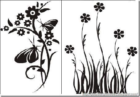 Descarga plantillas para decorar paredes como vinilos - Plantillas para pintar cuadros ...