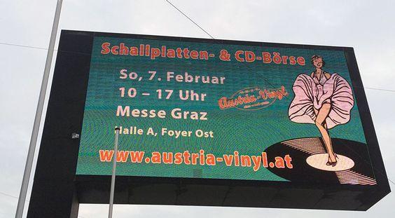 Am 7. Februar 2016 findet wieder die Schallplatten- und CD-Börse in Graz statt. Diesmal an besonders prominenter neuer Location in der Halle A der Messe Congress Graz.