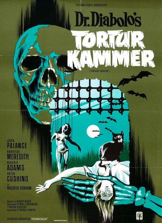 TORTURE GARDEN (1967) Jack Palance & Peter Cushing