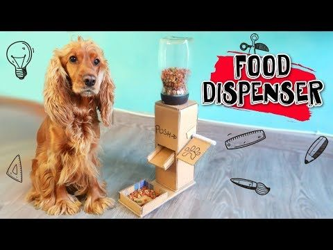Diy Puppy Dog Food Dispenser From Cardboard At Home Puppy Crafts