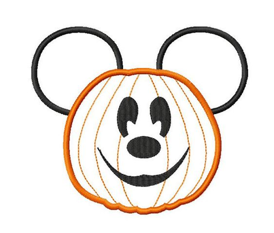 Character Applique Design : Character inspired jack o lantern embroidery applique