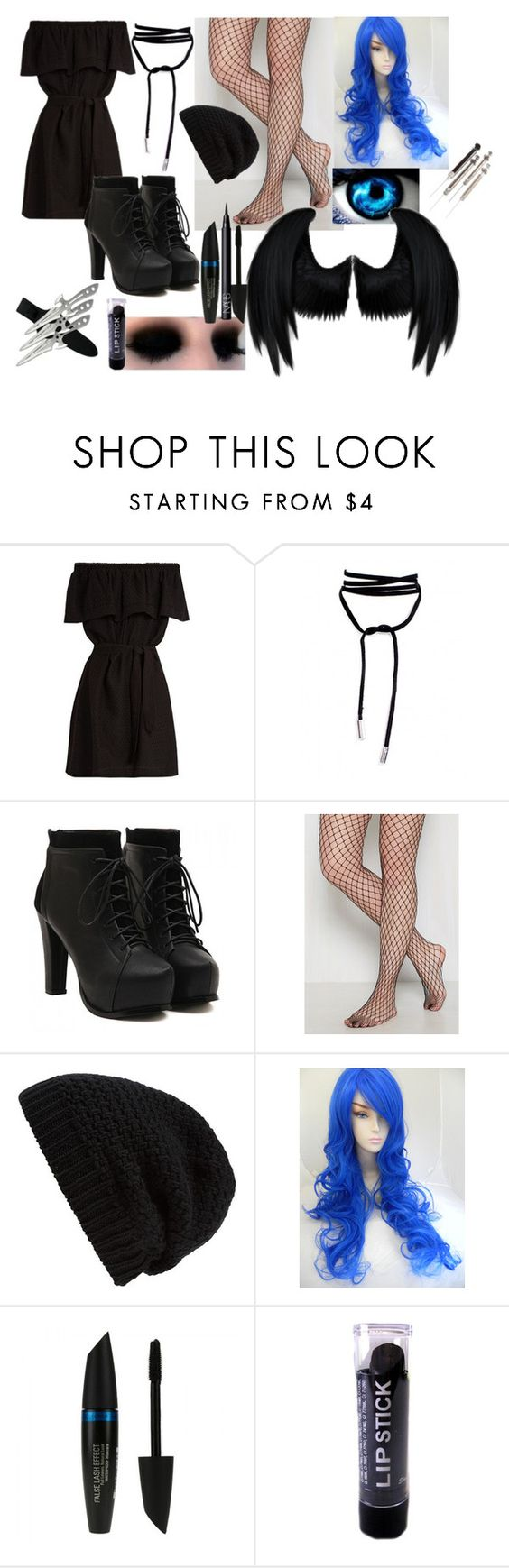 """outfit #29 (eyeless)"" by eyeless-angel-of-death ❤ liked on Polyvore featuring CECILIE Copenhagen, Rick Owens, Dickies, Max Factor and NARS Cosmetics"