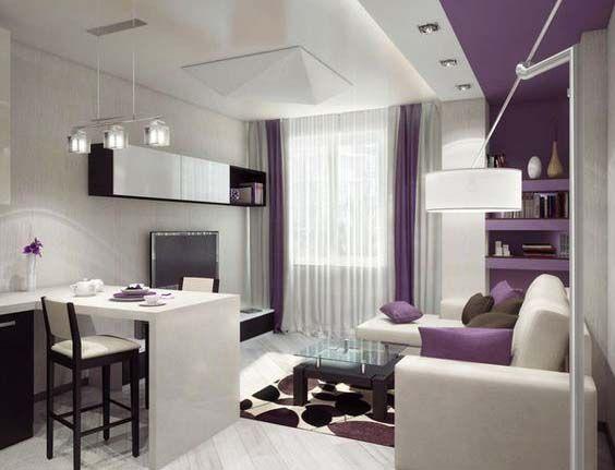 Modern Small Open Plan Kitchen Living Room Design Ideas Zoning