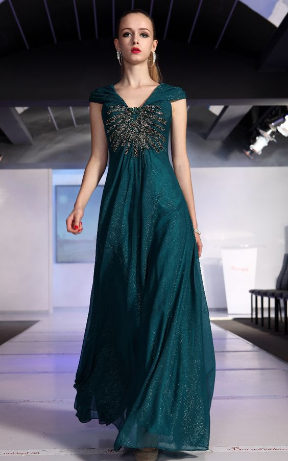 Blue Green Dress - Dress Xy