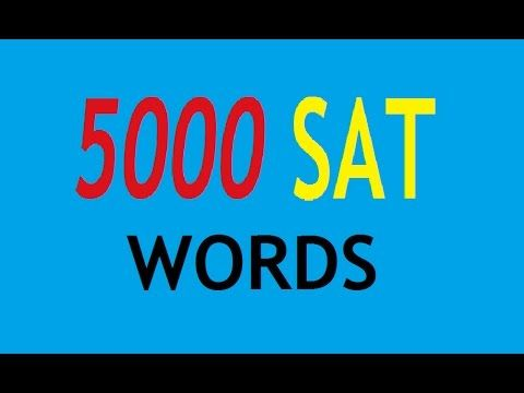 5000 Sat English Word With Meaning Part 1 Ielt Reading Writing Paraphrasing Activitie Eap
