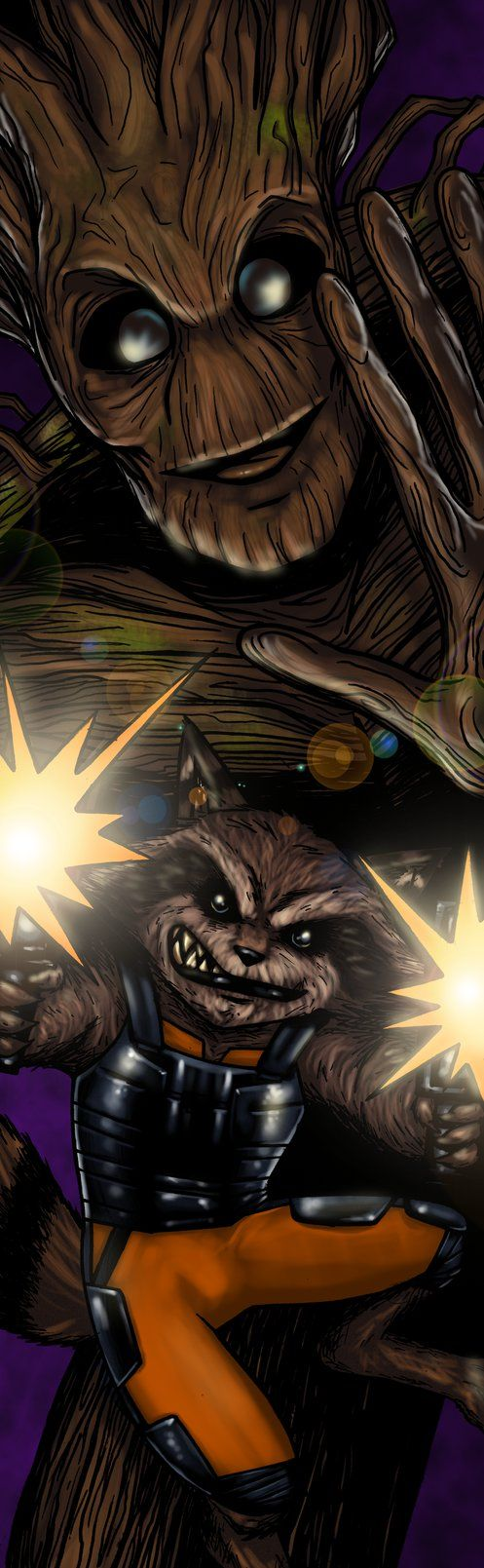 Rocket and Groot by TheRealSurge on DeviantArt