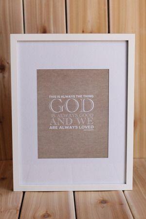Image of GOD IS GOOD PRINT