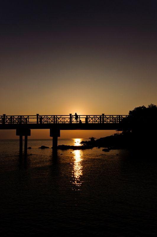 Perhentian Kecil Contre Jour Sunset