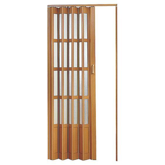 Hoggan puerta plegable pvc caoba lugano 90 x 200 cm - Puertas plegables de interior ...