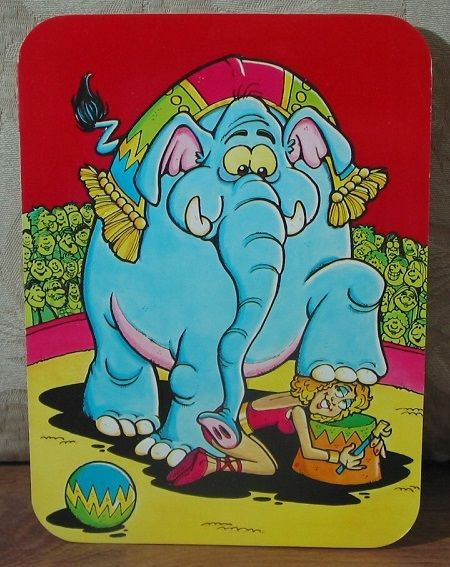** MARK 1 Inc. Big Top 1976 Vintage Greeting Card Thinking Of You   1.8P723B481217JUNK0325   http://ajunkeeshoppe.blogspot.com/