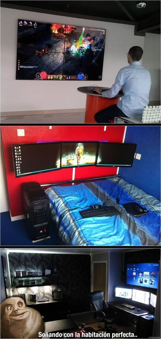 Geek culture gaming rooms and the one on pinterest - Habitacion gaming ...