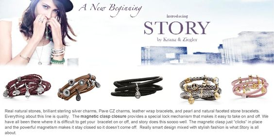 Leather wrap bracelets with sterling silver charms.