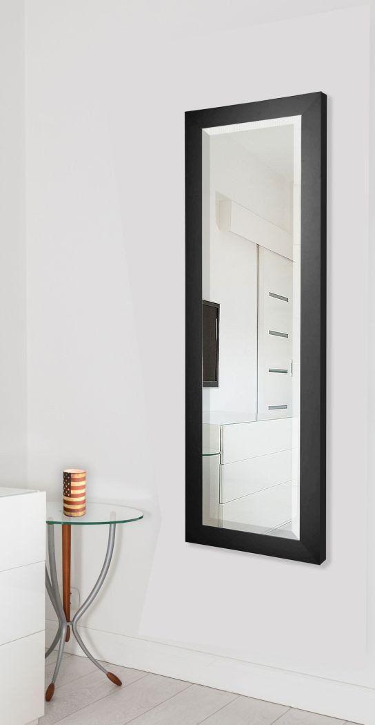 American Made Rayne Black Satin Full, Full Length Mirror Black Trim