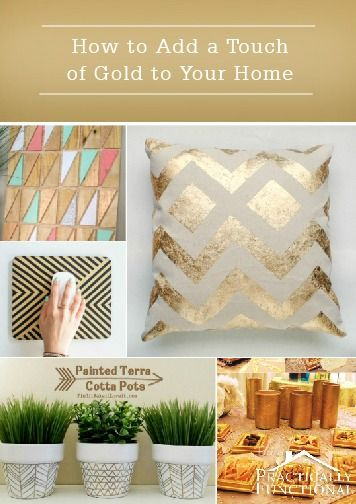 Metallic home décor accents are right on-trend and perfect for the holiday season. Click here to learn how to add glowing and glimmering gold to your home!