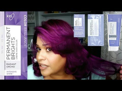 How I Bleach My Roots And Change Hair Color L Ion Permanent Brights Radiant Orchid L Marylin Morales You Change Hair Color Ion Hair Colors Bright Hair Colors