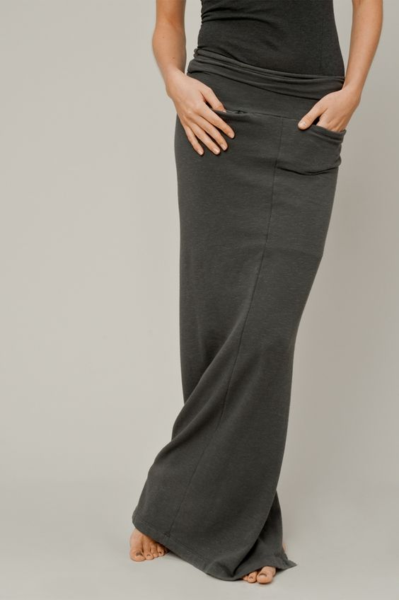 comfy looking maxi skirt with pockets