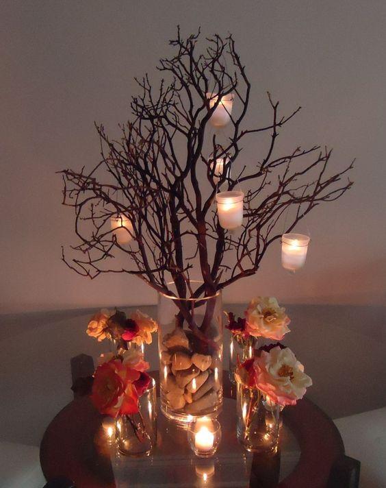 Manzanita branch centerpiece tree pinterest