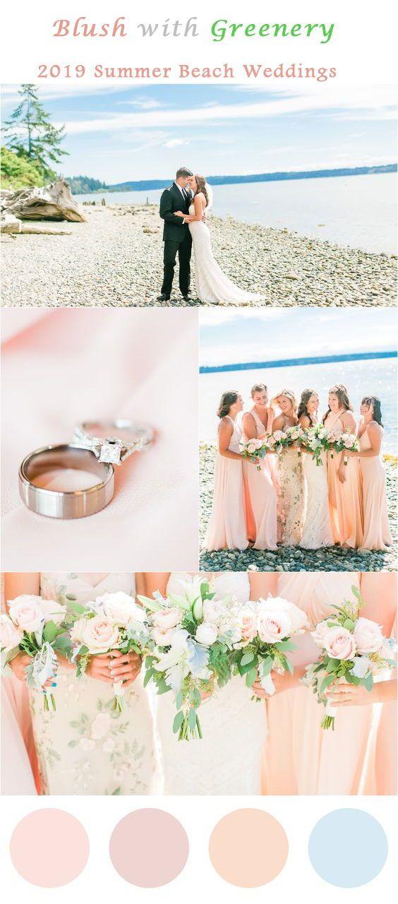 19 Charming Beach And Coastal Wedding Ideas Blush And Dusty Blue