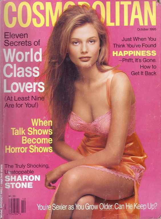 Cosmopolitan USA cover with Bridget Hall - October 1995