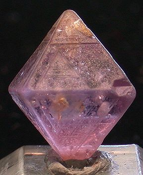 Spinel Pink from Sri Lanka Perfect cubic crystal example: