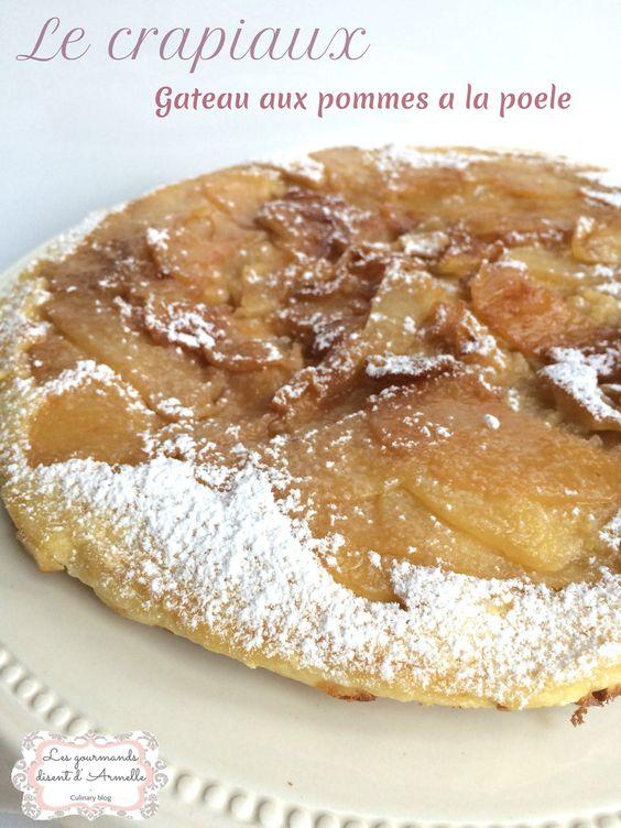 Crapiaux aux pommes et caramel au beurre salé (gâteau à la poele)