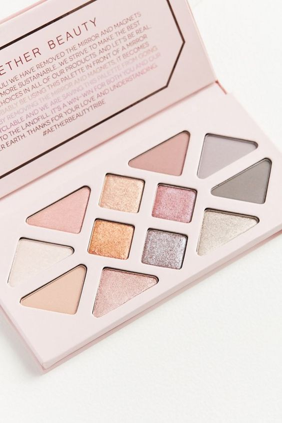 Rose Quartz Crystal Gemstone Eyeshadow Palette