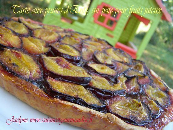 Tarte aux prunes d'Ente, (Sur pâte pour fruits juteux, repérée sur le site du…