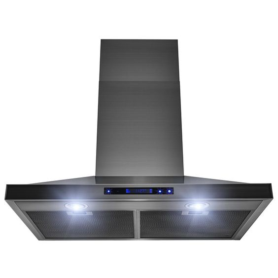 Akdy 36 In Ducted Kitchen Wall Mount Range Hood In Brushed Stainless Steel With Led Light Rh0016 Wall Mount Range Hood Brushed Stainless Steel Stainless Steel Range Hood