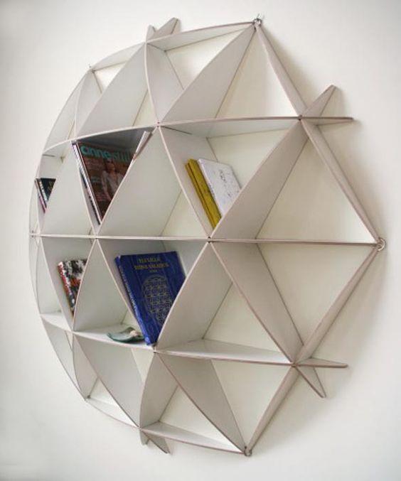 Et en carton carton pinterest biblioth ques mur d for Estantes de carton