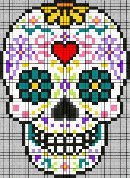 épinglé Par Rosebidon Sur étape Dessin Pixel Art Tête De