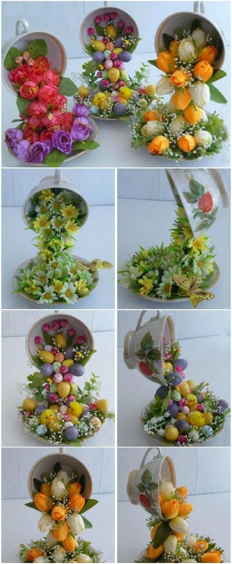 Flying Flower Teacups - From Tea to Décor: 25 Gorgeous Projects to Upcycle Old Teacups: