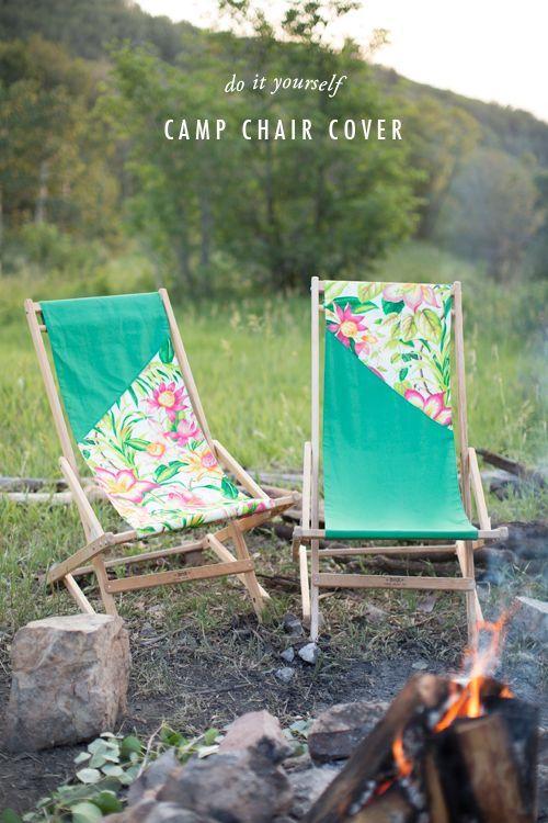 Diy Camp Chair Cover Camping Diy Campingtisch Und Sommerideen
