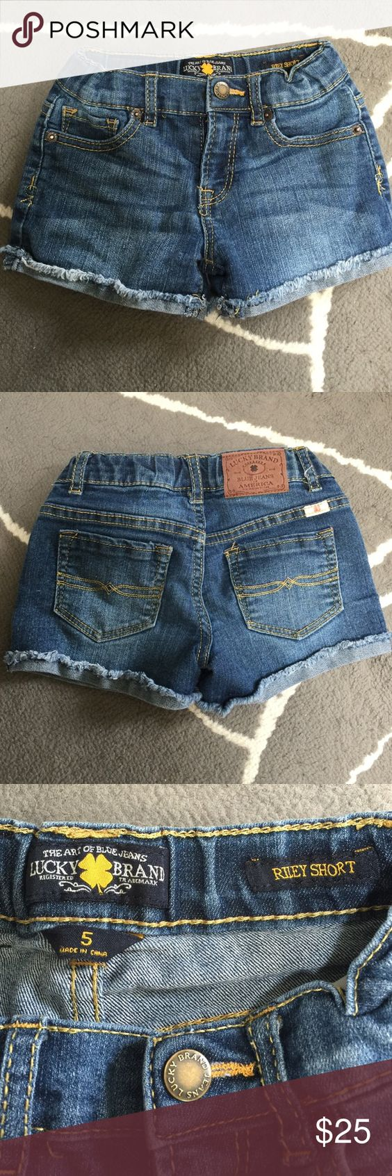 LUCKY Kids Jean Shorts Kids Jean shorts size 5. Gently worn. No rips, holes, stains. Pet/Smoke free home. No Trades Lucky Brand Bottoms Shorts