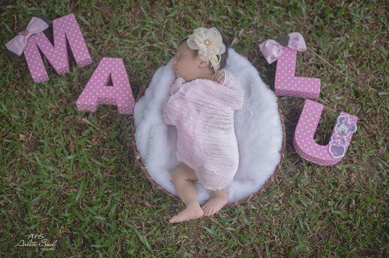 Fotografia: Arlete Soed Fotografia©2015 Ensaio newborn realizado no 1 mês da pequena Maria Luisa. Belém Pará, ensaio de menina.