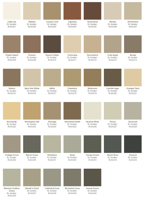 Ralph lauren paint color chart Ralph lauren paint colors