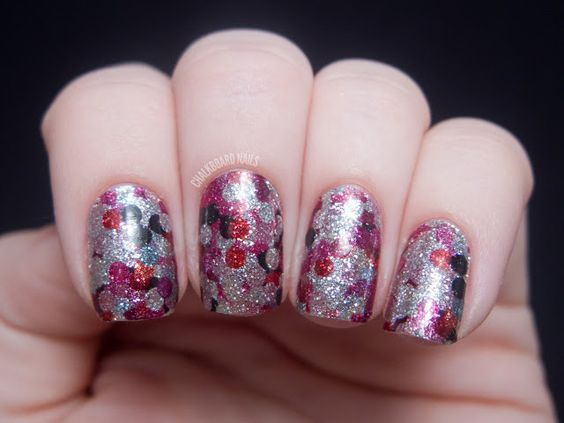 Chalkboard Nails: OPI Pure Lacquer Nail Apps - Girly Glam