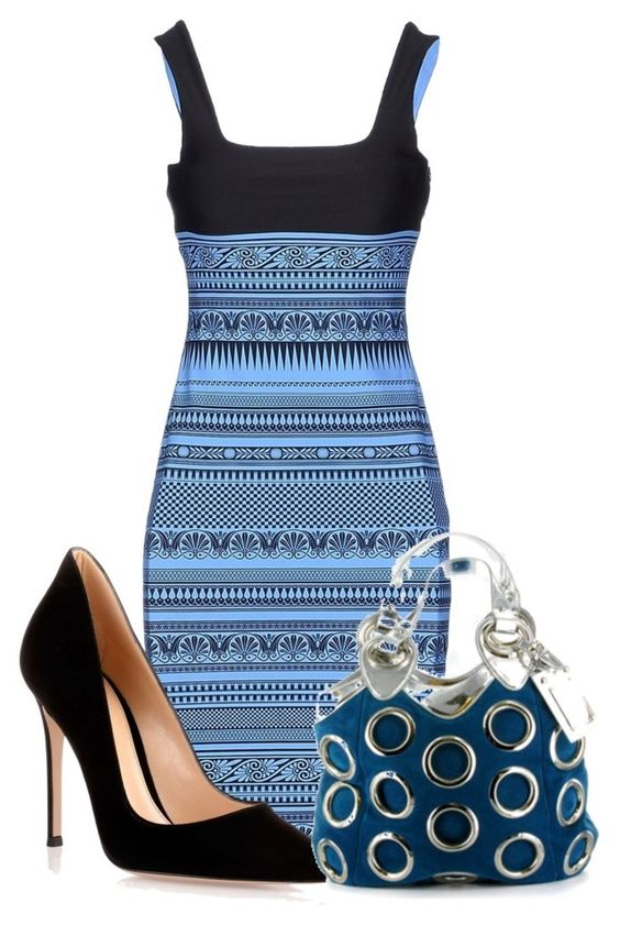 """Untitled #7404"" by nanette-253 ❤ liked on Polyvore featuring FAUSTO PUGLISI, Gianvito Rossi and Gianmarco Lorenzi"