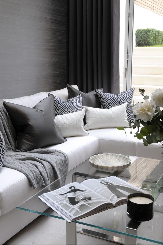 Th2 Designs 169 This Corner Sofa Is Adorned Beautifully With