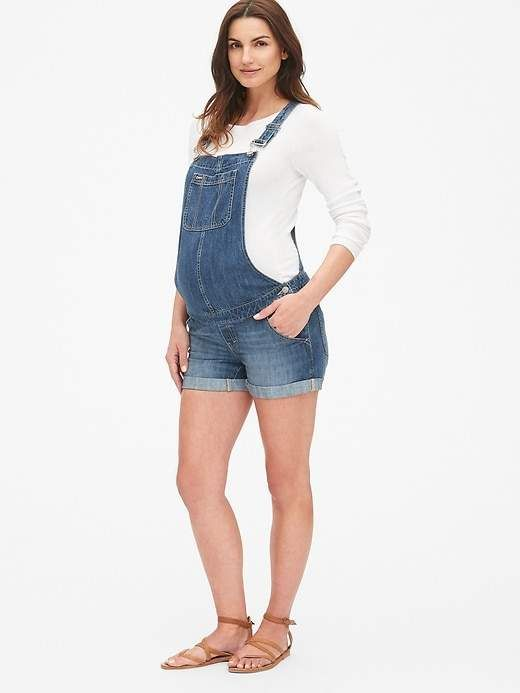 Yours Clothing Womens Bump IT UP Maternity Distressed Denim Shorts