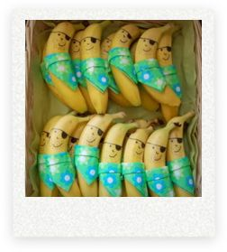 Having a pirate themed Halloween party? These bananas are such a fun treat to serve.