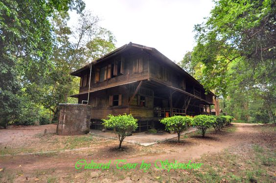 The ancient wood pavilion in SuanMok Surat Thani Thailand. #Travel #Thailand ++ English language support >> http://ThailandHolidays7.com