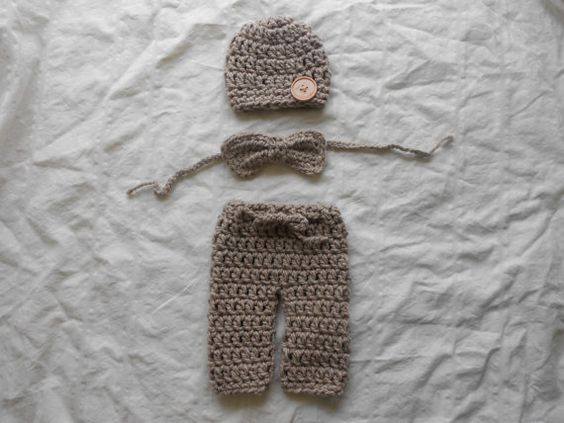 3pc Pant outfit hat bow tie and pants newborn by DesignsbyKieshia, $18.00