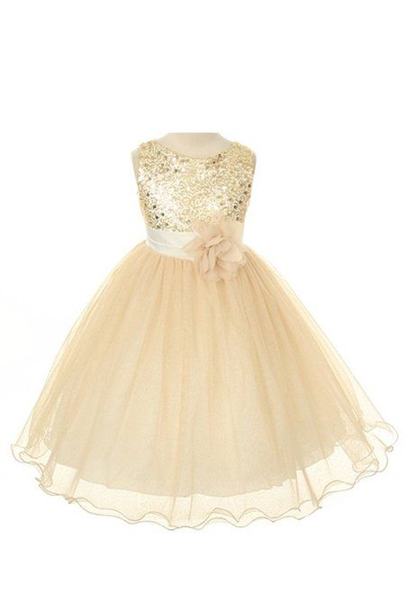 Gold Flower Girl Dress $40. Thoughts, @Kirstie Smith ?