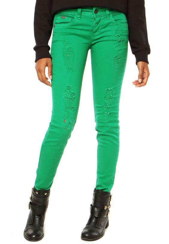 Calça Sarja Colcci Skinny Verde - Compre Agora | Dafiti Brasil