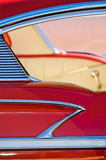 1958 Chevrolet Belair Hardtop Abstract by Jill Reger