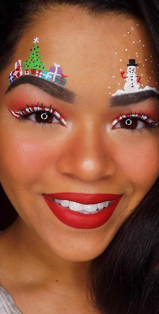 Easy And Beauty Christmas Makeup Look Ideas And Images For 2019 Page 42 Of 47 Ladiesways Com Women Hairstyles Blog Christmas Makeup Look Christmas Makeup Christmas Makeup Simple