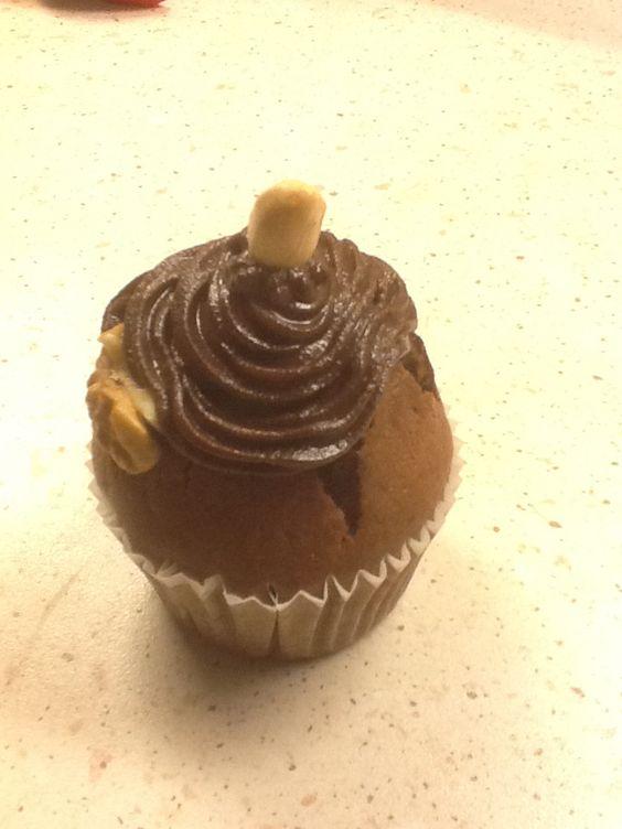 La cacahuète  #cupcake #chocolate #nutela