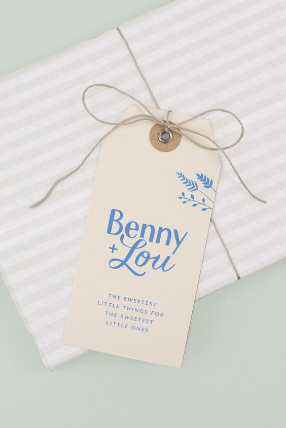 hang tag design for a children's brand